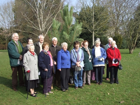 Planting trees to commemorate the Suffragetes of Bath,