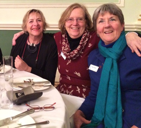 Gillian, Angelika and Liz at Fashion Show celebrating International Women's Dau