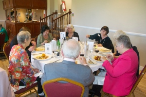 Enjoying a good meal at the 90th anniversary lunch