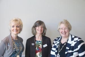 Regional President Kay Turner,Bath President Diane Steele and Federation President Jenny Vince