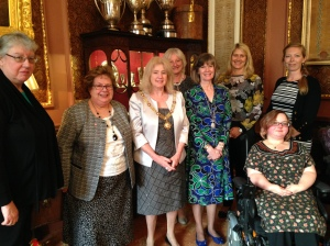 Members and their friends join the Mayor of Bath the Right Worshipful Cherry Beath on April 16th 2015